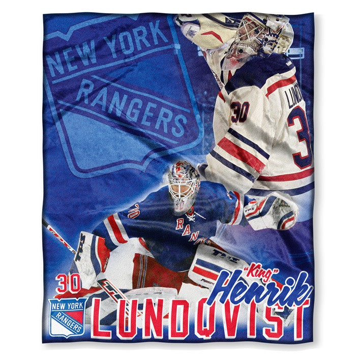 New York Rangers Henrik Lundqvist NHL Players HD Silk Touch Throw