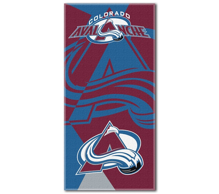 Colorado Avalanche NHL Puzzle Beach Towel