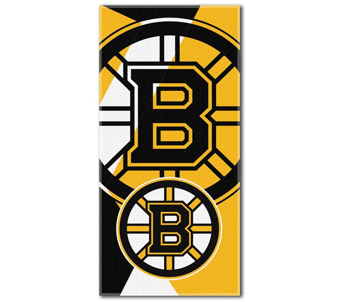 Boston Bruins NHL Puzzle Beach Towel - Sports Fans Plus