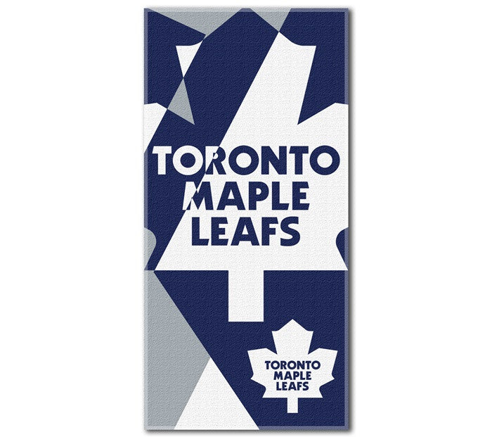 Toronto Maple Leafs NHL Puzzle Beach Towel