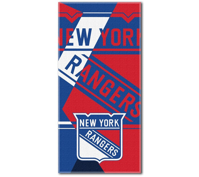 New York Rangers NHL Puzzle Beach Towel