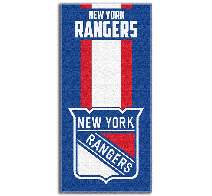 New York Rangers NHL Zone Read Beach Towel