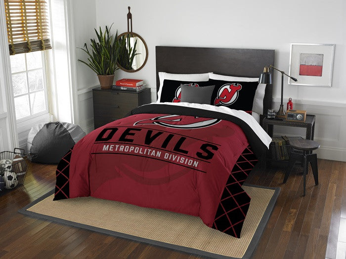 New Jersey Devils NHL Draft Full-Queen Comforter Set