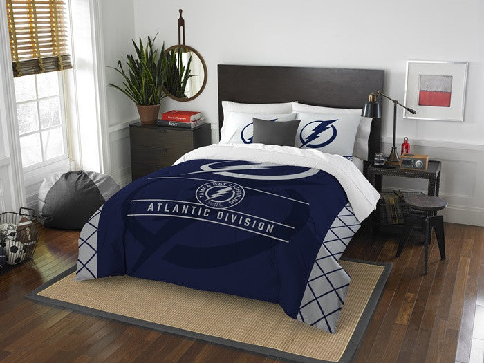 Tampa Bay Lightning NHL Draft Full-Queen Comforter Set