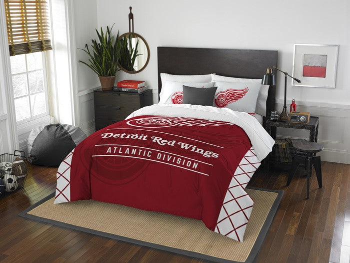 Detroit Red Wings NHL Draft Full-Queen Comforter Set
