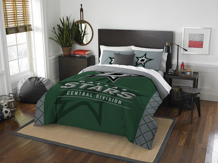 Dallas Stars NHL Draft Full-Queen Comforter Set