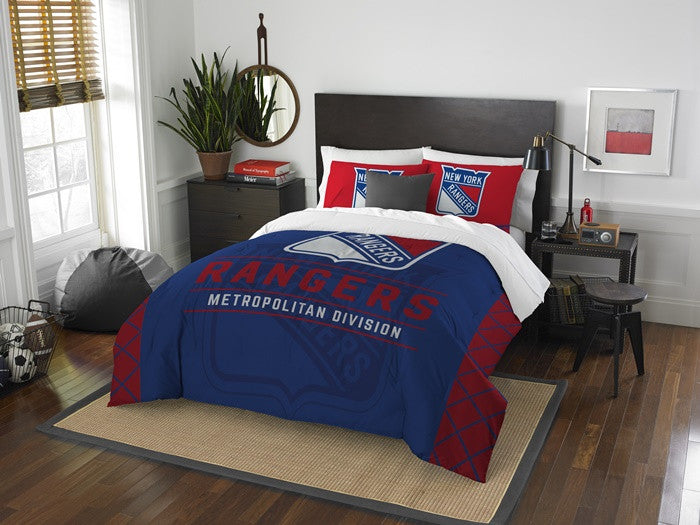 New York Rangers NHL Draft Full-Queen Comforter Set