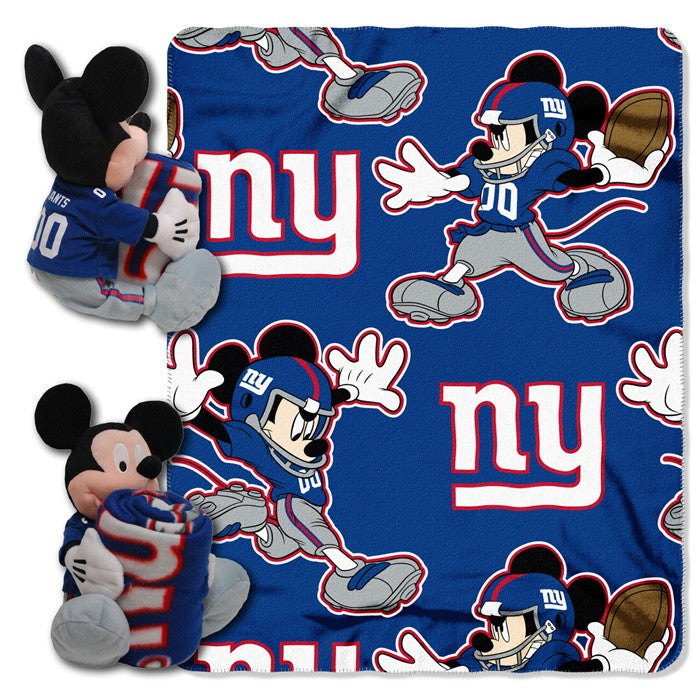 New York Giants NFL Mickey Mouse Hugger with Throw - Sports Fans Plus