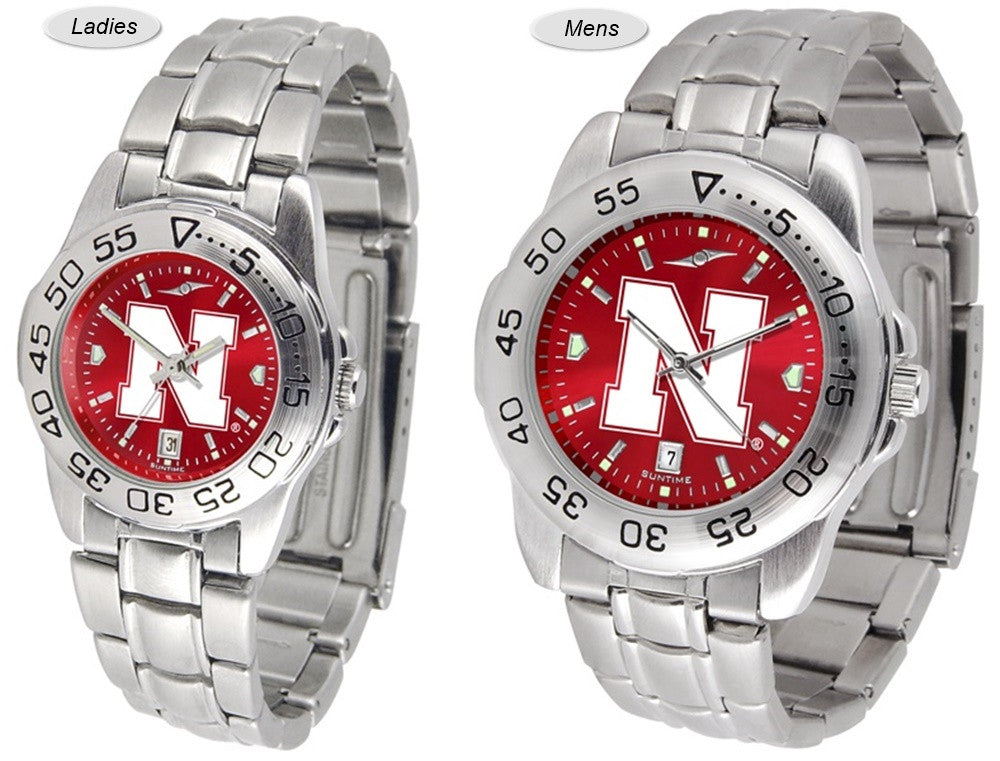 Nebraska Huskers Sport Steel AnoChrome Watch