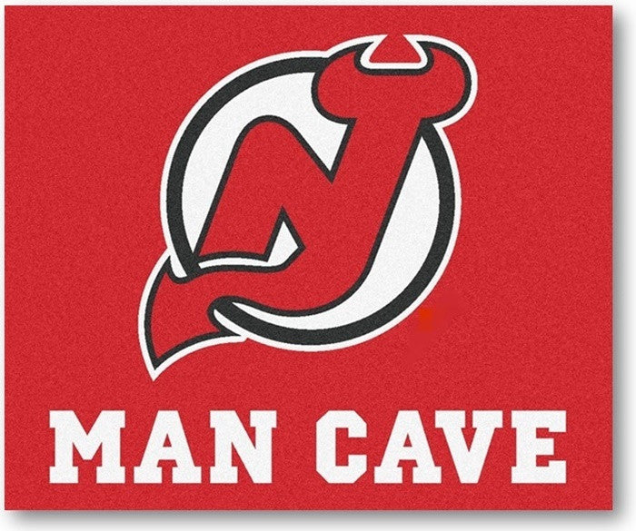 New Jersey Devils NHL Man Cave Tailgate Rug - Sports Fans Plus