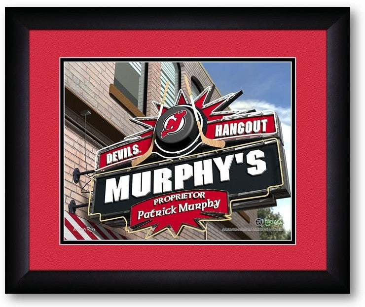 New Jersey Devils NHL Personalized Pub Print - Sports Fans Plus  - 2