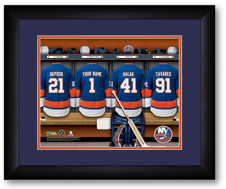 New York Islanders NHL Personalized Locker Room Print - Sports Fans Plus  - 2