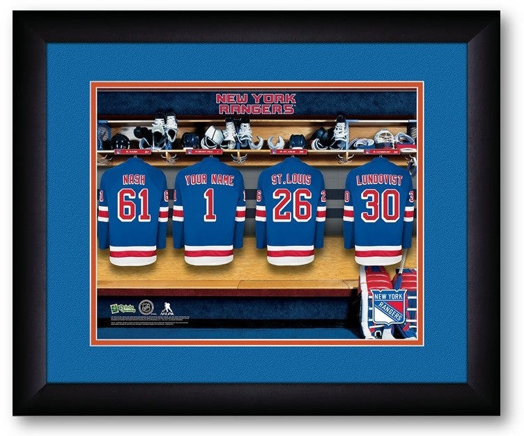 New York Rangers NHL Personalized Locker Room Print - Sports Fans Plus  - 2