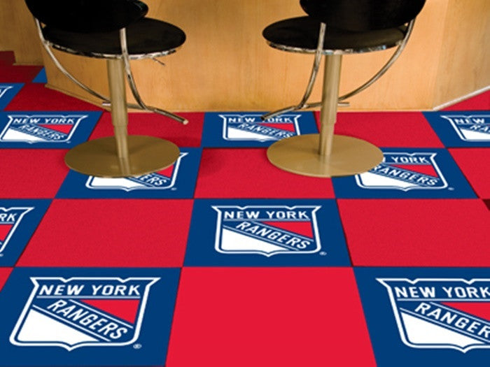 New York Rangers NHL Carpet Tiles - Sports Fans Plus  - 1