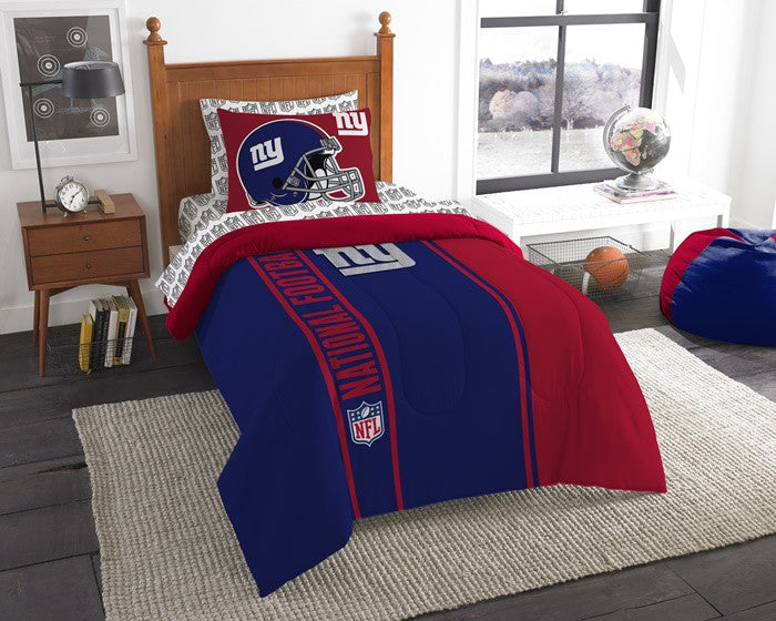 New York Giants NFL Twin Bed-in-a-Bag with Sheets