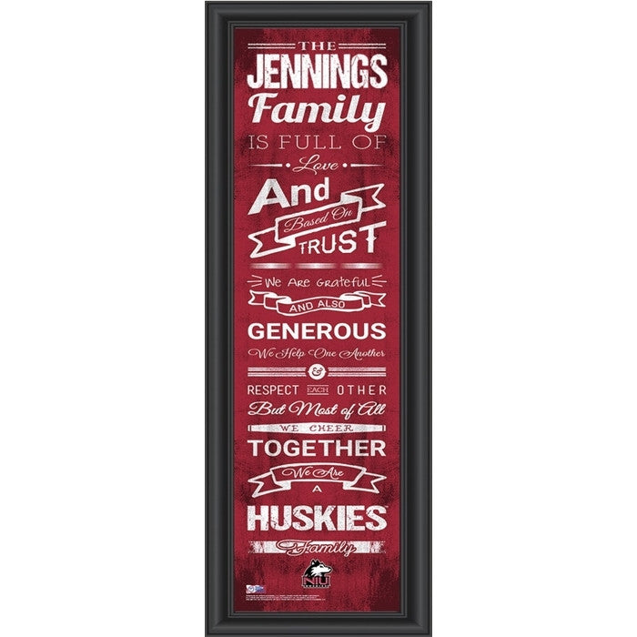 Northern Illinois Huskies Personalized Family Cheer Print