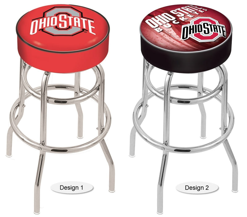 Ohio State Buckeyes Retro Chrome Bar Stool