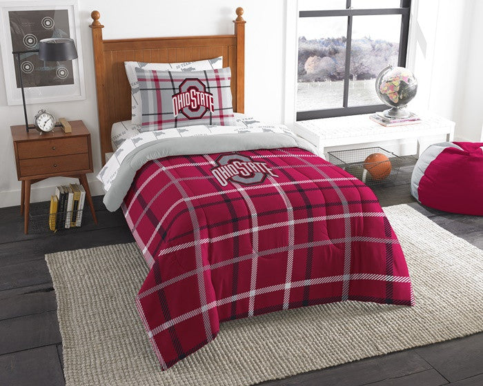 Ohio State Buckeyes Twin Bed-in-a-Bag with Sheets