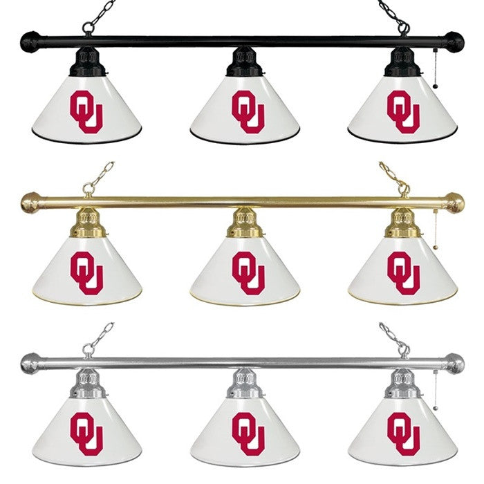 Oklahoma Sooners 3-Shade Billiard Light - Sports Fans Plus - 1