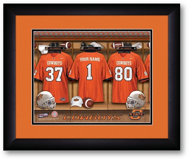 Oklahoma State Cowboys Personalized Locker Room Print - Sports Fans Plus  - 2