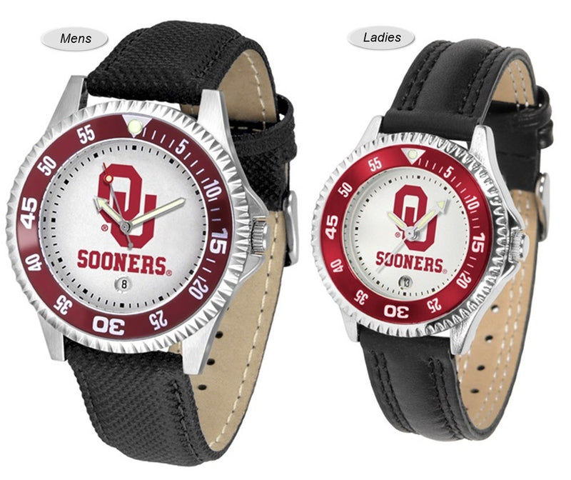 Oklahoma Sooners Competitor Sport Leather Watch