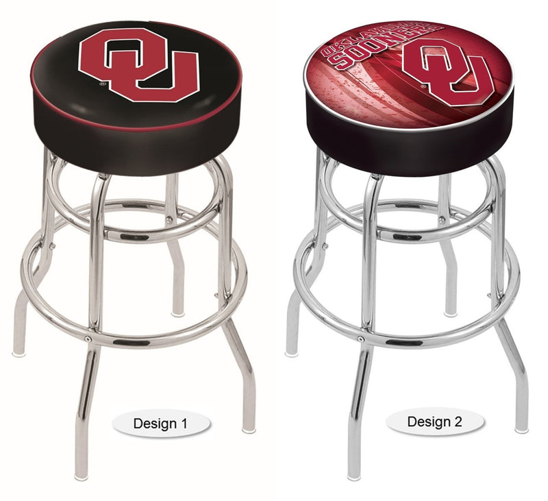 Oklahoma Sooners Retro Chrome Bar Stool