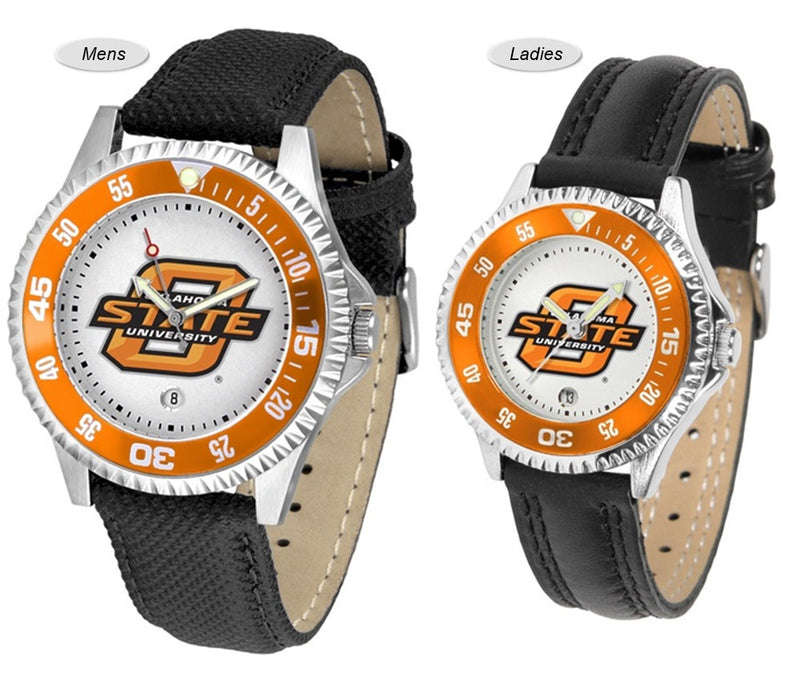 Oklahoma State Cowboys Competitor Sport Leather Watch