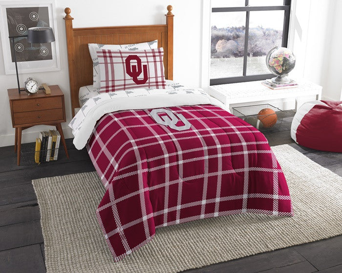 Oklahoma Sooners Twin Bed-in-a-Bag with Sheets