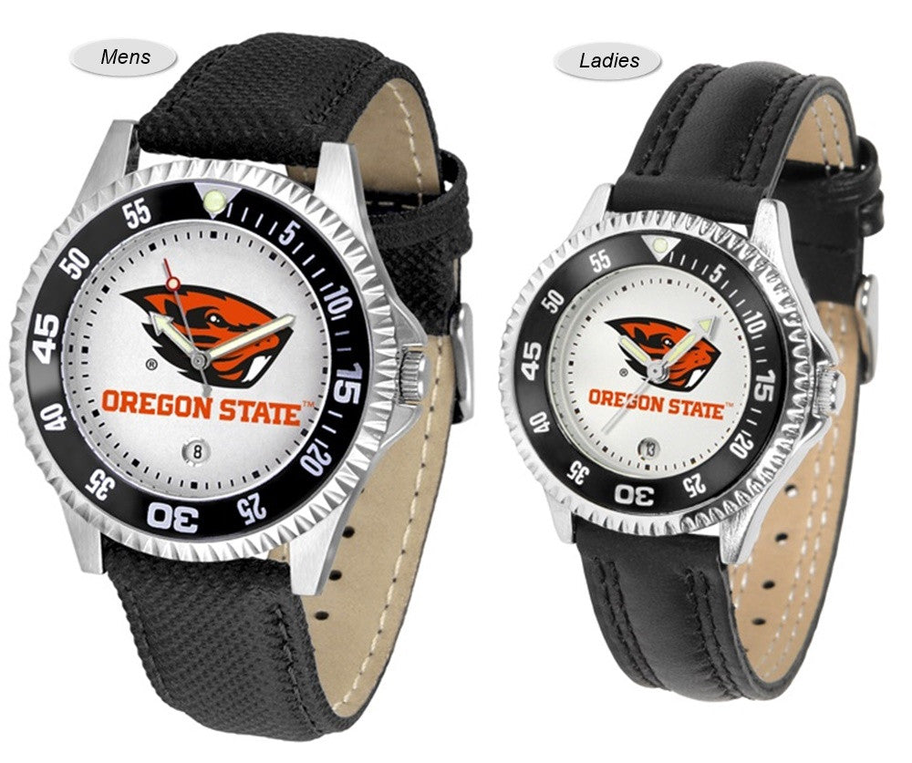 Oregon State Beavers Competitor Sport Leather Watch