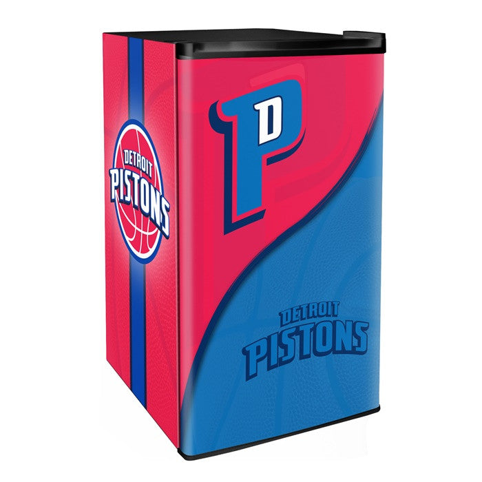 Detroit Pistons NBA Primary Counter Height Refrigerator - Sports Fans Plus  - 1