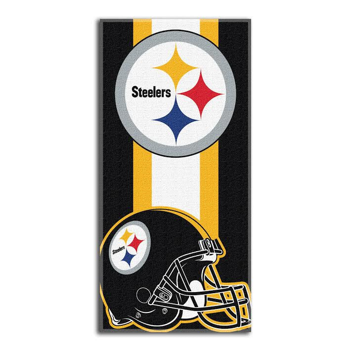 Pittsburgh Steelers NFL Zone Read Beach Towel