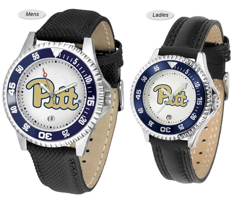 Pitt Panthers Competitor Sport Leather Watch