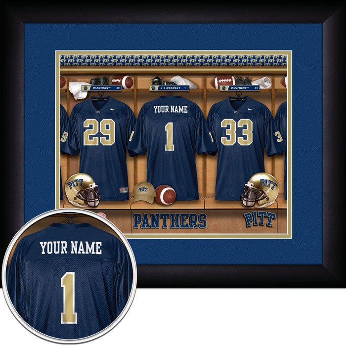 Pitt Panthers Personalized Locker Room Print - Sports Fans Plus  - 1