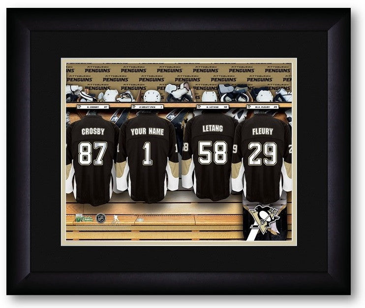 Pittsburgh Penguins NHL Personalized Locker Room Print - Sports Fans Plus  - 2