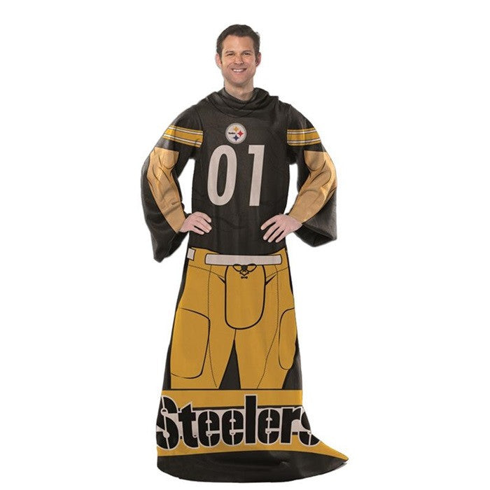 Pittsburgh Steelers NFL Unisex Adult Comfy Throw - Sports Fans Plus