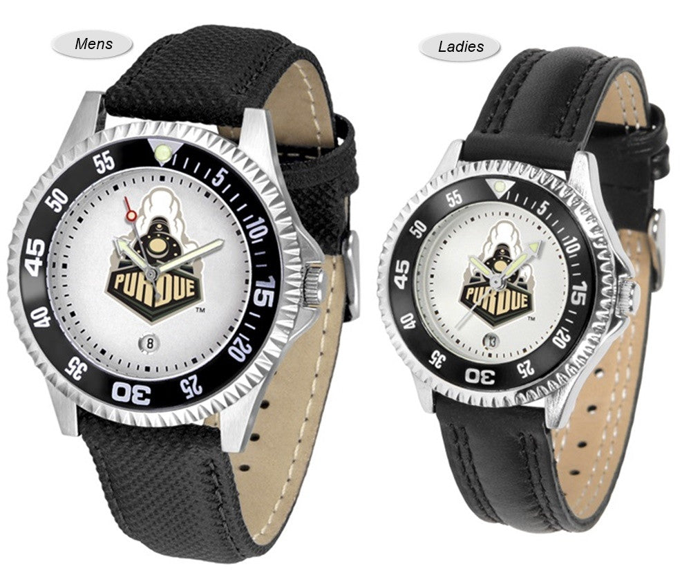 Purdue Boilermakers Competitor Sport Leather Watch
