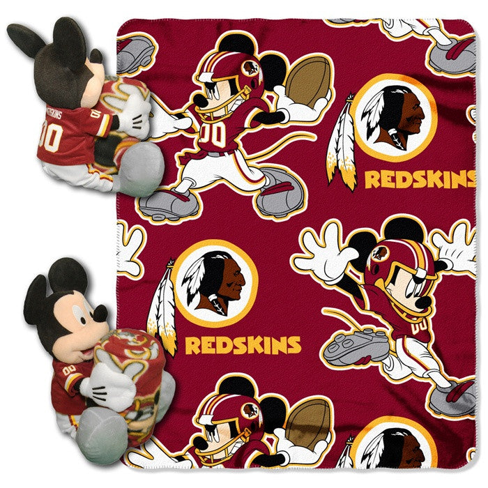 Washington Redskins NFL Mickey Mouse Hugger with Throw - Sports Fans Plus