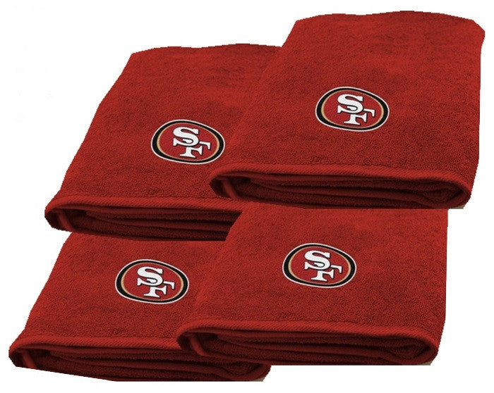 San Francisco 49ers NFL Logo Bath Towel - Sports Fans Plus