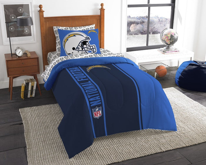 Los Angeles Chargers NFL Twin Bed-in-a-Bag with Sheets