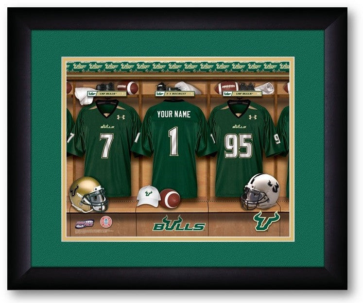South Florida Bulls Personalized Locker Room Print - Sports Fans Plus  - 2