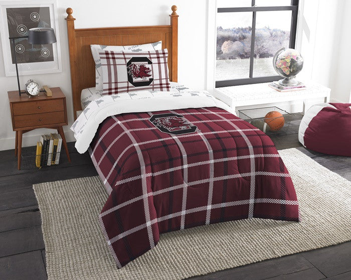 South Carolina Gamecocks Twin Bed-in-a-Bag with Sheets
