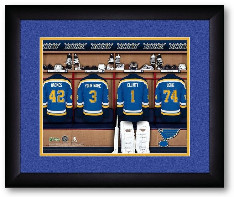 St. Louis Blues NHL Personalized Locker Room Print - Sports Fans Plus  - 2