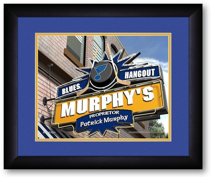 St. Louis Blues NHL Personalized Pub Print - Sports Fans Plus  - 2
