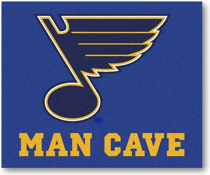 St. Louis Blues NHL Man Cave Tailgate Rug - Sports Fans Plus