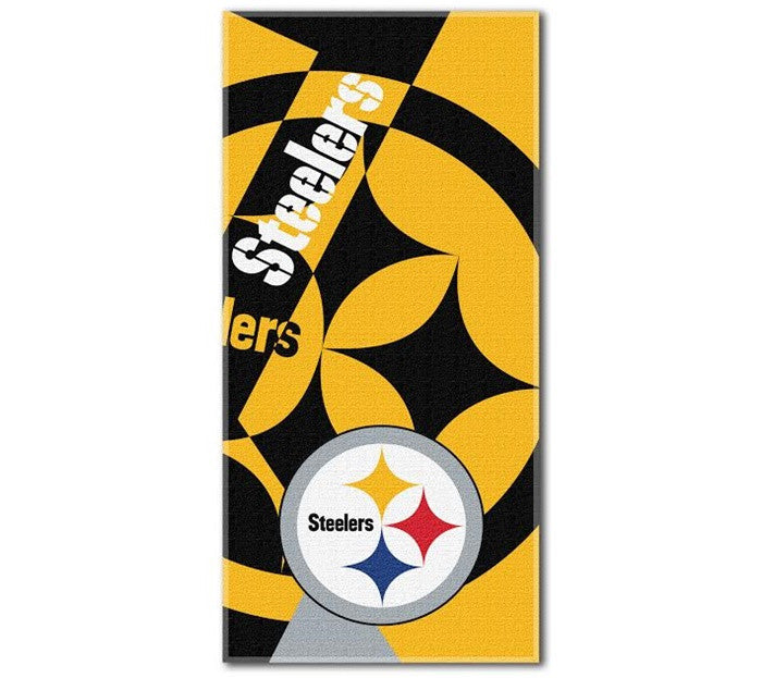 Pittsburgh Steelers NFL Puzzle Beach Towel
