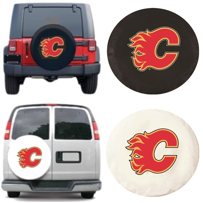 Calgary Flames NHL Exact Fit Tire Cover - Sports Fans Plus