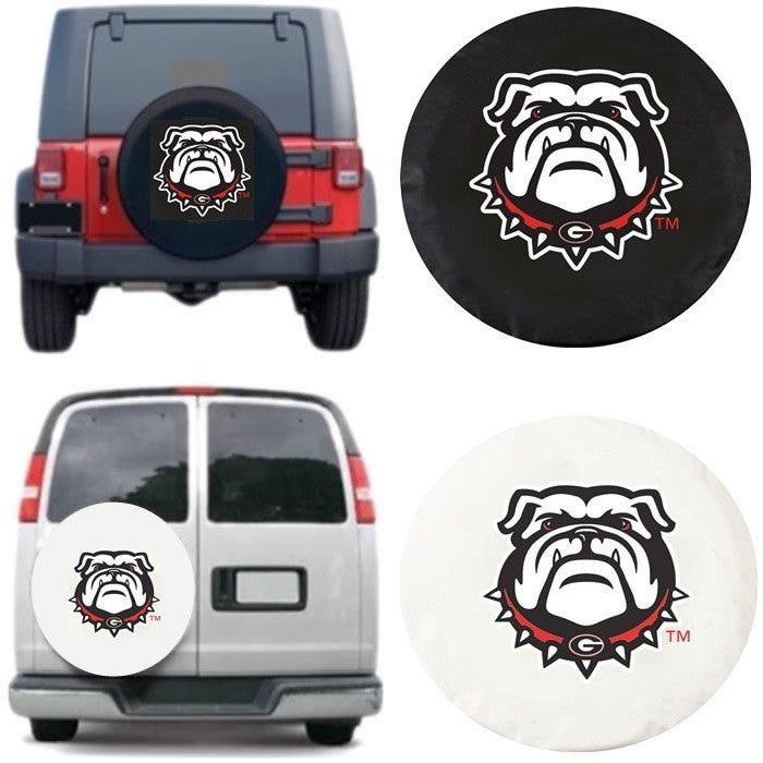 Georgia Bulldogs Exact Fit Tire Cover - Sports Fans Plus