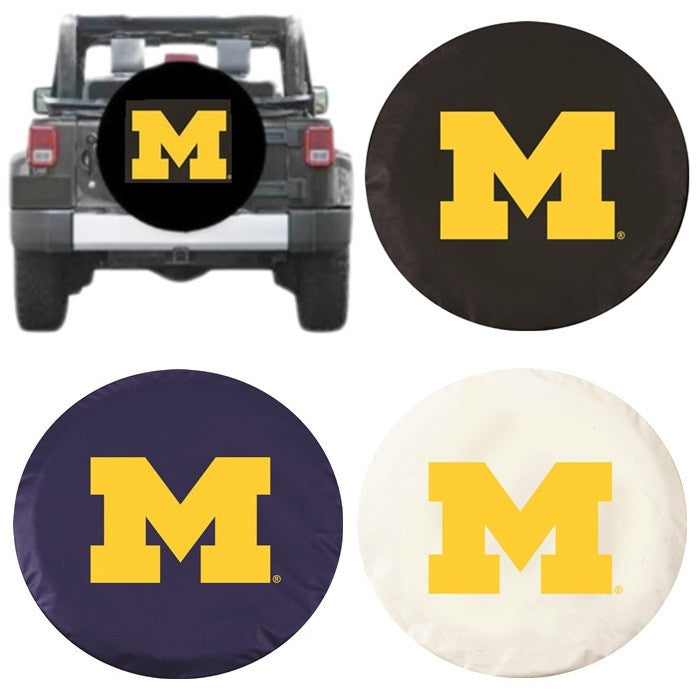 Michigan Wolverines Exact Fit Tire Cover - Sports Fans Plus