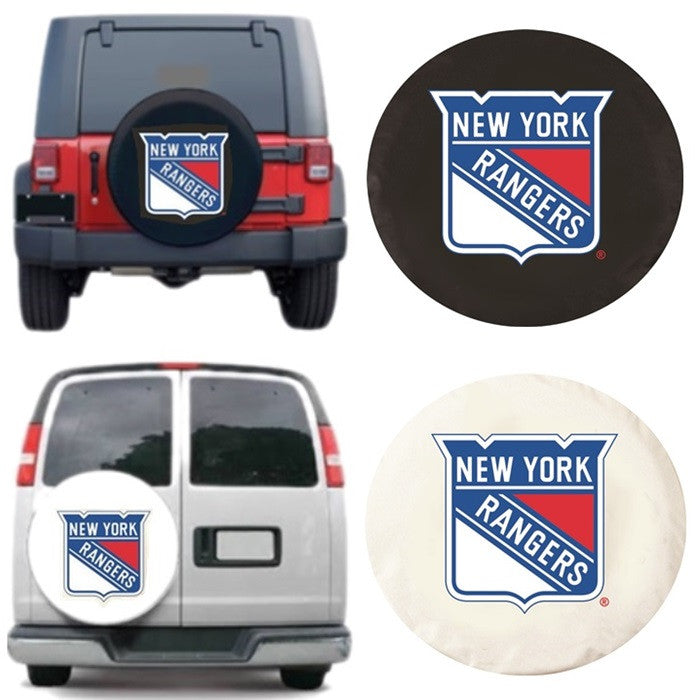 New York Rangers NHL Exact Fit Tire Cover - Sports Fans Plus