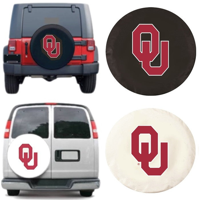 Oklahoma Sooners Exact Fit Tire Cover - Sports Fans Plus